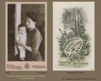 07-0-10. 1913г.Гостилово. Александра Кондратьевна Зенина и Боря Бугров